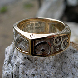 Steampunk Enement Ring | Custom Design Jewelry Creaser Jewelers