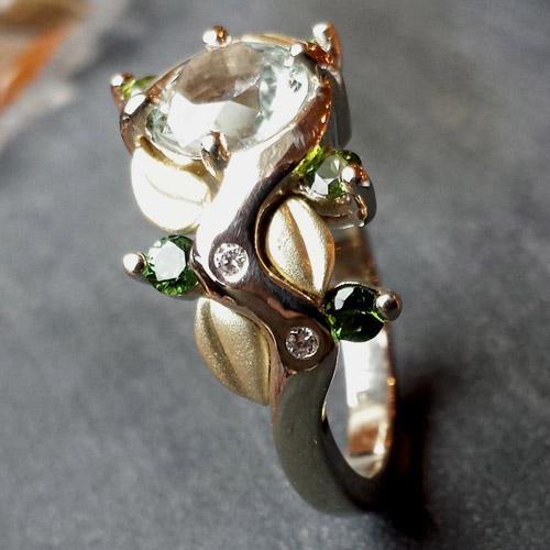 Trillion Enement Ring | Custom Design Jewelry Creaser Jewelers